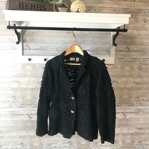 Chico's Black jacket with two buttons